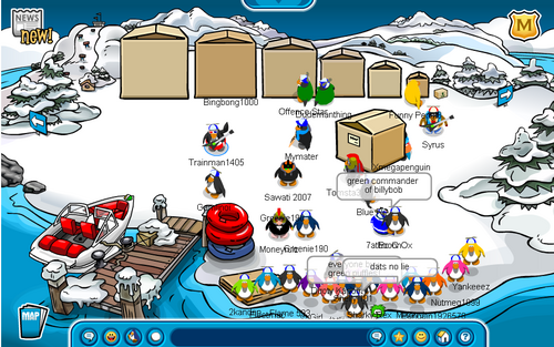 Club Penguin April Fools Day Party 2007