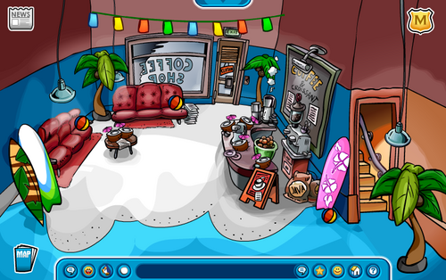 Club Penguin Summer Party 2007 Coffee Shop