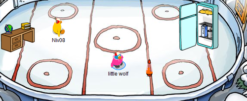 Club Penguin April Fools Day Party 2006 - Ice Rink Stadium