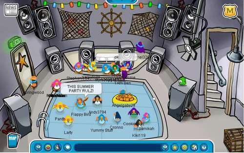 Club Penguin Summer Party 2006 Night Club