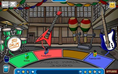 Club Penguin Music Jam 2008 Dojo