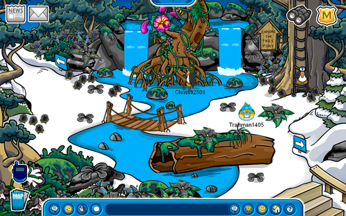 Club Penguin 2009 Adventure Party Forest Room
