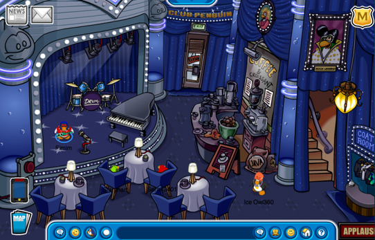 Club Penguin Music Jam 2010 Coffee Shop