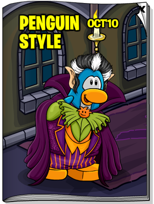 Club Penguin October 2010 Penguin Style