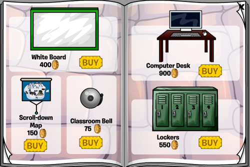 Club Penguin September 2010 Furniture Catalog
