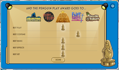 Club Penguin Play Awards Results 2009