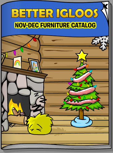 Club Penguin November 2008 Better Igloos Furniture Catalog