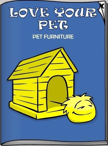 Club Penguin November 2007 Pet Furniture Yellow Puffle