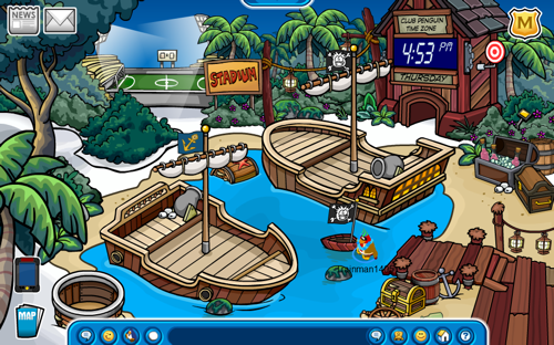 Club Penguin Island Adventure Party 2011 Snow Forts