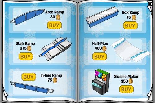 Club Penguin August/September 2011 Better Igloos Furniture Catalogue