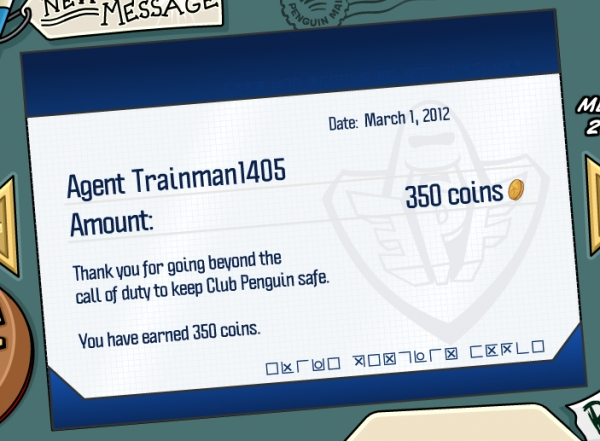 Club Penguin March 2012 Pay Day