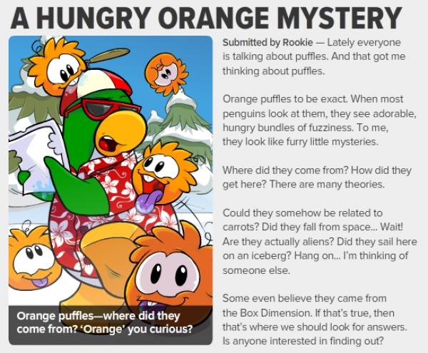 Club Penguin: How to Adopt an Orange Puffle | Club Penguin Cheat Site | 495x600