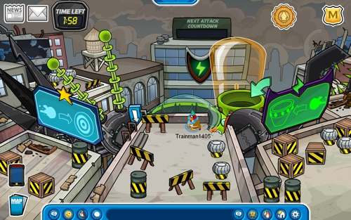 Club Penguin Marvel Superhero 2012 Destructobot Battle