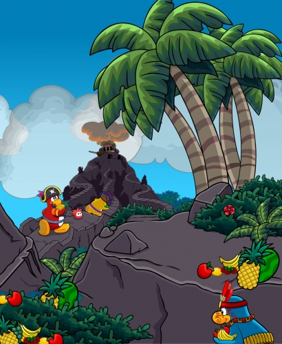 Club Penguin Adventure Party 2012 Temple of Fruit Rooms Sneak Peek