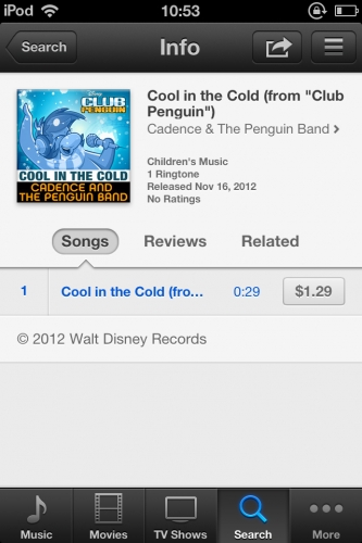 Club Penguin Cool in the Cold Ringtone