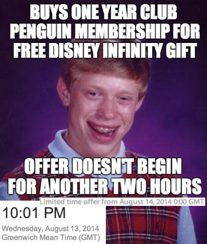 Club Penguin Membership Offer Free Disney Infinity
