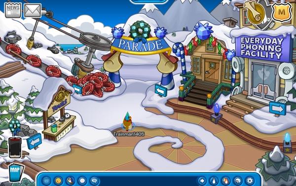 Club Penguin Merry Walrus Parade Ski Village
