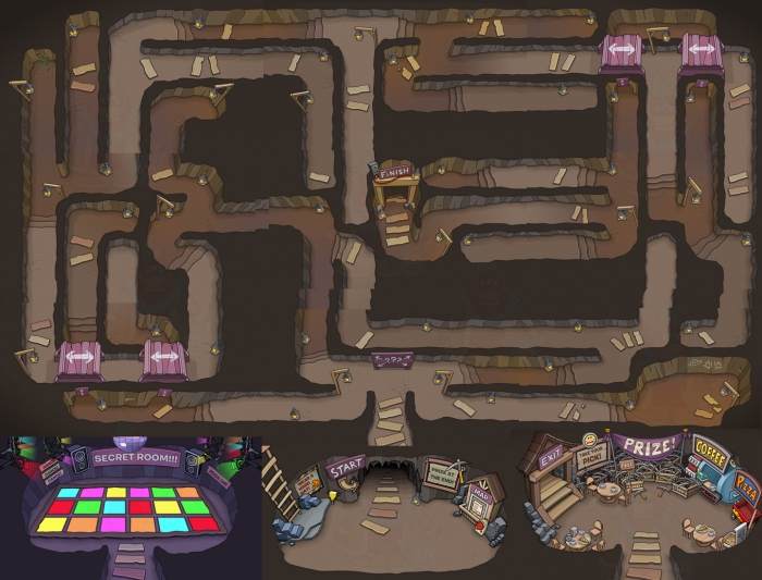 Club Penguin Dock Underground Cave Maze Sneak Peek