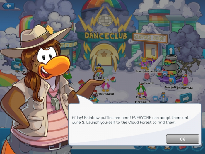 Club Penguin Rainbow Puffle Party 2015 Is Here | Club