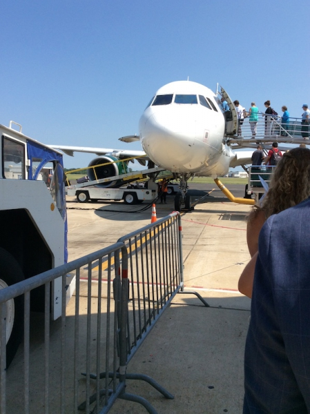 Boarding Frontier Airlines In Trenton New Jersey